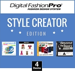 1f- Digital Fashion Pro V8 Basic - Fashion Design Software. Design Basic Tops, T-shirts and Pants for Men and Women. Includes Training. Super Easy to use. Start Designing Clothing Today!